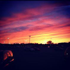 Beautiful sunrise in Omaha Nebraska!