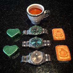 regram @swisswatchambassador This coffee shot is dedicate to the legend @d.rolexero who reached 200k followers yesterday Congrats my friend #rolex#rolexero#rolexblog#lovewatches#rolexcollectors#watches#wwatches#watchporn#wristporn#wristshot#watchoftheday#rolexwrist#fashion#style#luxury#luxurytimepieces#swissmade#dailywatches#milgauss#datejust#sub#submariner#coffee#espresso#hulk#green#blue#dapper by adriano89na