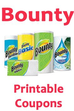 save on bounty products using these printable coupons