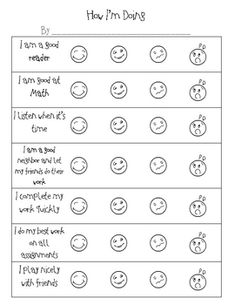 This Free Student SelfAssessment Resource Is The Perfect Way To