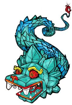 Quetzalcoatl Ilustración (Kukulkán).