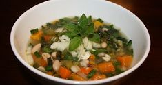 Meatless Monday: Greek Cannellini Bean & Vegetable Soup