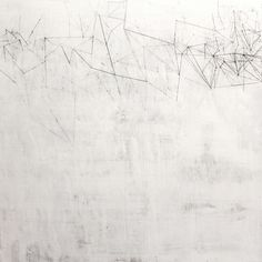 White Geometric Oil and Graphite on Canvas 150cm x 150cm Currently with Cadogan Contemporary http://helenbooth.com