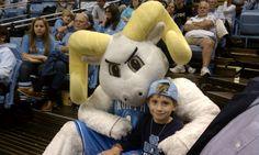 UNC Basketball fan w/ Rameses