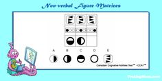Can your older child solve this non-verbal figure matrix practice question for the #CCAT?