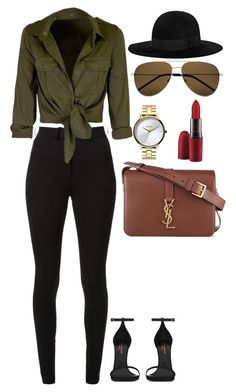 Untitled #235 by amoney-1 ❤ liked on Polyvore featuring Victoria Beckham, Nixon, Yves Saint Laurent and MAC Cosmetics