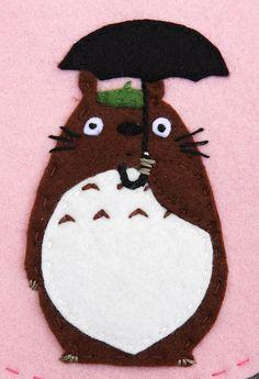 Felt Totoro   A felt Totoro on a bag I made for Hazel. Blogg…   Flickr