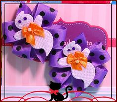 Cute Ghost Halloween Hair Bows Boutique Hair by LilPinkFashionista, $7.00