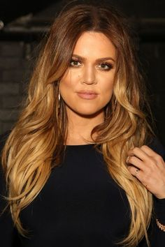 Khloe Kardashian , The Hottest Long Hairstyles  Haircuts For 2014
