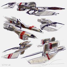 fighter design thumbnails by Dwayne Vance
