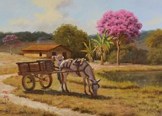 JOSÉ ROSÁRIO - ARRUMANDO A CARGA Óleo sobre tela - 50 x 70 - 2014