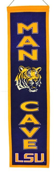 LSU Tigers Banner Wool Man Cave