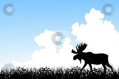 Moose stock vectorb
