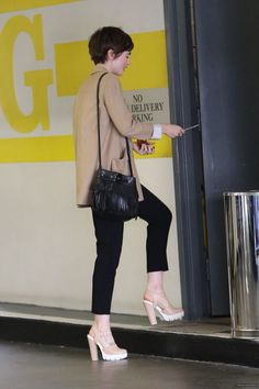 Lily Collins shoes