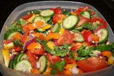 Summer salad. Perfect for potlucks, side dishes, and on top of chicken, fish or tacos. Fresh, easy, and delicious!