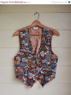 """Christmas SALE $22.50 """" Click to Shop Now"""" Vintage Christmas Vest Animals by founditinatlanta on Etsy"""