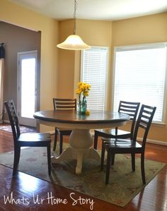 Craigslist Pedestal Table Makeover With Chalk Paint And