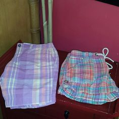 NWOT Old Navy size 2 shorts The shorter ones are linen and cotton. The mid length are 100 cotton. Both were never worn. I have a tendency to buy remove tags and never wear things. Trying to change that! Old Navy Shorts
