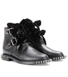 Saint Laurent - Rangers studded leather boots  - mytheresa.com GmbH