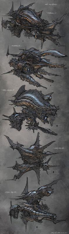 이종계 보스 concept ships: Feng Zhu spaceship concepts