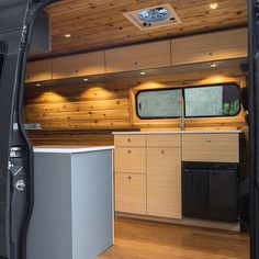 We'll have a lot of new van builds to share with you soon, but for now here is the kitchen galley angle of the last 144 sprinter we finished. This beauty was simple and elegant: sink, fridge (no cooktop). The next few will be a bit more complex.  @van_life_revolution