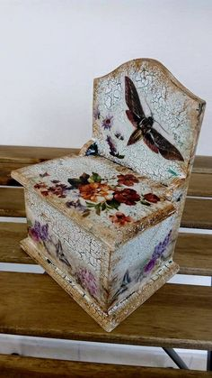 box, Decoupage jewelry box,