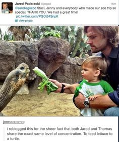 Thomas is using the force and Jared looks like he's about to use force