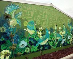 Street art diy beautiful Ideas for 2019 Murals Street Art, Graffiti Murals, Street Art Graffiti, Street Wall Art, Garden Mural, Forest Mural, School Murals, Nz Art, Mural Wall Art