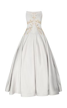 Embroidered Crepe Gown by Zac Posen Chic Outfits, Pretty Outfits, Fashion Outfits, Types Of Dresses, Nice Dresses, Club Dresses, Glamour, Online Dress Shopping, Shopping Sites