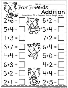 Kindergarten Addition Worksheets - Math Units for Kindergarten. II Do you need Awesome Addition Worksheets and Centers for Kindergarten Math? Kids LOVE these fun, interactive math activities, and you will too. Kindergarten Addition Worksheets, Kindergarten Math Worksheets, 1st Grade Worksheets, Mental Maths Worksheets, Teaching Addition, Free Printable Math Worksheets, Preschool Writing, Free Printables, Math Sheets