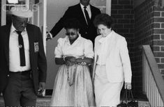 CIA Collection Management Officer Sharon Scranage being escorted from a federal magistrate office charged with espionage. CIA Security Officers Sheila Hall, Felicia Pryor, Gwen Smith and others are following in Ms. Scranage's footsteps and will be the first Black women charged with espionage against the United States since Scranage pleaded guilty to three counts under the Intelligence Identities Protection Act of 1982.