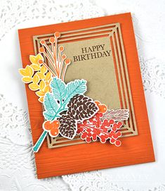 Masculine Birthday Card by Dawn McVey for Papertrey Ink (November 2015)