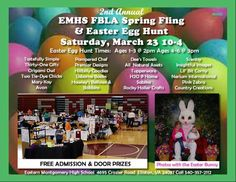 2nd Annual EMHS Spring Fling   & Easter Egg Hunt  Saturday March 23~~ 8 -4  Eastern Montgomery high school