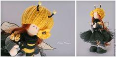 """Купить """"ПЧЁ'ЛА"""" - чёрный, желтый, сюрприз, подарок, пчела, оса, улий, соты, тильда, тэдди Bee"""