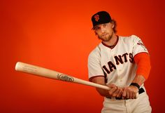 Hunter Pence #8 of the San Francisco Giants poses for a portrait during spring training photo day at Scottsdale Stadium on February 27, 2015 in Scottsdale, Arizona. (February 26, 2015 - Source: Christian Petersen/Getty Images North America) San Francisco Giants Photo Day