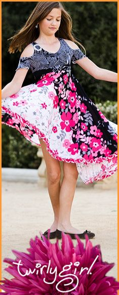 Flower girls dresses for wedding from TwirlyGirl.  This show stopper is called the Can Can Dress.  So can you!  CLICK HERE.  #flower-girls-dresses-for-wedding