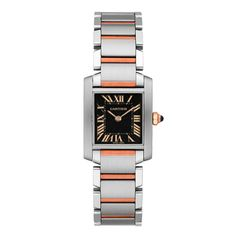 Cartier Tank Francaise Steel and Rose Gold Ladies Bracelet Watch From  Berry s Jewellers 8371c42347c