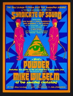 The Syndicate of Sound 1993 Aug 13 DNA Lounge San Francisco Poster Dennis Loren