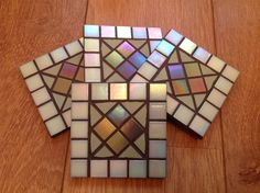 Wednesday's #MosaicOfTheDay is ... My GREEN iridescent COASTER set <3   £15 with FREE postage on this item from now until midnight - that's a £3.00 saving!!! ;)   Perfect #GiftIdea for MOTHER'S DAY on the 30th March!   #Mosaic #MothersDay 26/2/14