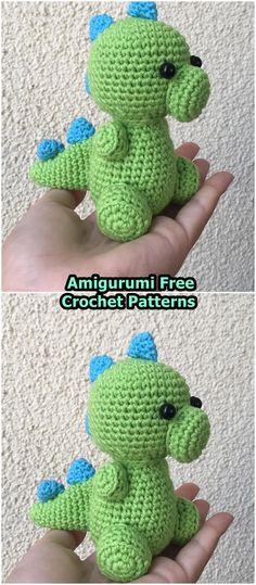 Yoshi dinosaur amigurumi - English Pattern - Amigu World | 539x236