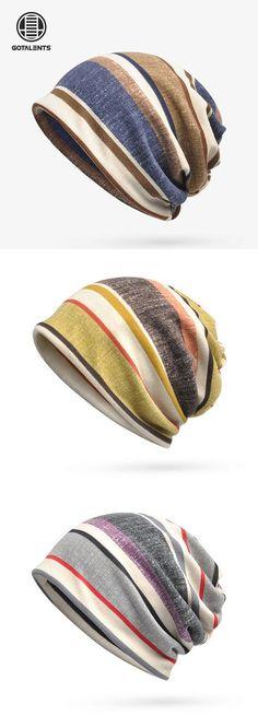 Women Mens Soft Breathable Stripe Beanies Cap Multifunction Collar Scarf is hot sale on Newchic. Look Fashion, Mens Fashion, Cute Beanies, Bandanas, Love Hat, Headgear, Hats For Men, Beanie Hats, Head Wraps