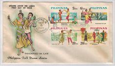 1963 - Philippines Postage stamps  Folk Dance series