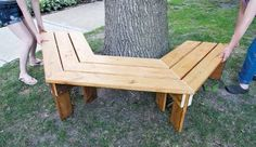 How to Build a Tree Bench - Learn to Build Plans!