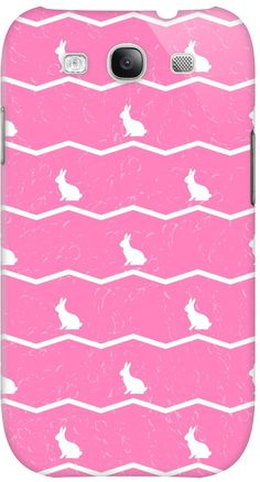 White rabbits on pink. by Alla Rinchino