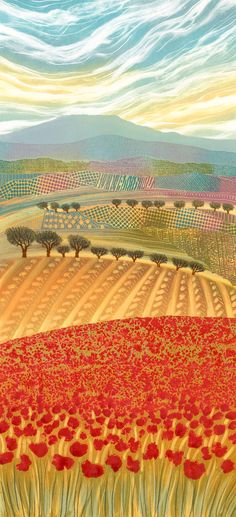 Summer Sensation original monotype mounted... REBECCA VINCENT... LOVE this one!!