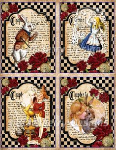 This item is unavailable – Scrapbooking Alicia Wonderland, Alice And Wonderland Quotes, Alice In Wonderland Party, Scrapbook Supplies, Scrapbook Paper, Scrapbooking, Decoupage Vintage, Decoupage Paper, Playing Cards Art