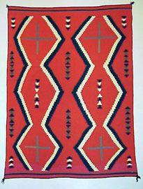 Louie Ewing Serigraph WPA Navajo Blanket