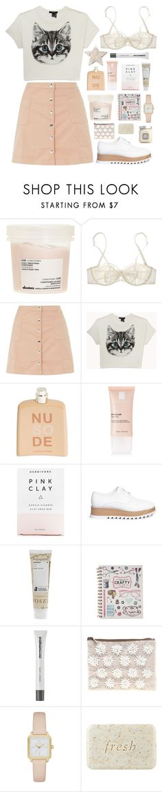 """Meow~"" by jovanax97 ❤ liked on Polyvore featuring Davines, Nina Ricci, Innocence, Forever 21, COSTUME NATIONAL, La Roche-Posay, Herbivore, Pedder Red, Korres and Dermalogica"