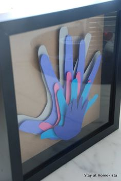 Stay at Home-ista--Family handprints......each month do hand print, and when leave class make this?