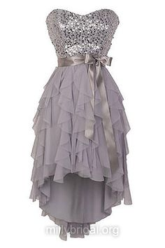 Cheap High Low Prom Dresses,A-line Sweetheart Homecoming Dresses,Chiffon Short/Mini Cocktail Dresses,Sashes / Ribbons Summer Party Gowns